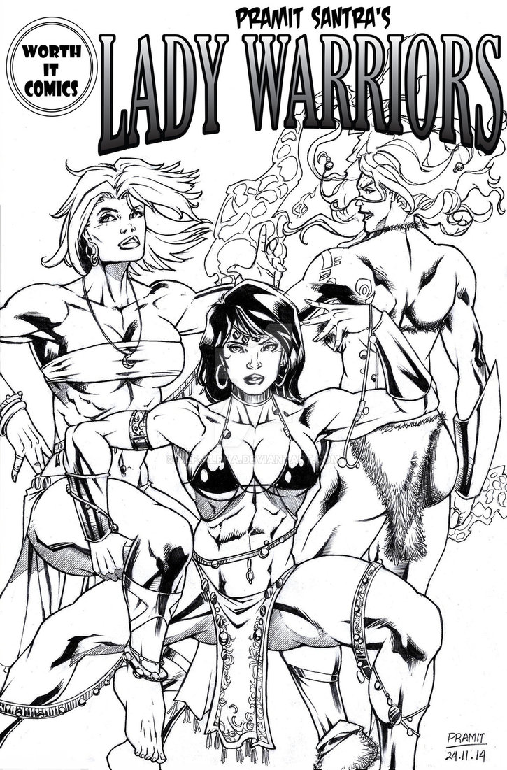 Lady Warriors #1 Back Cover by Pramit