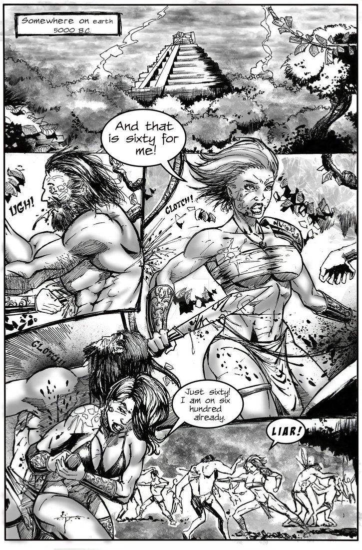 Lady Warriors Issue 1 pg1