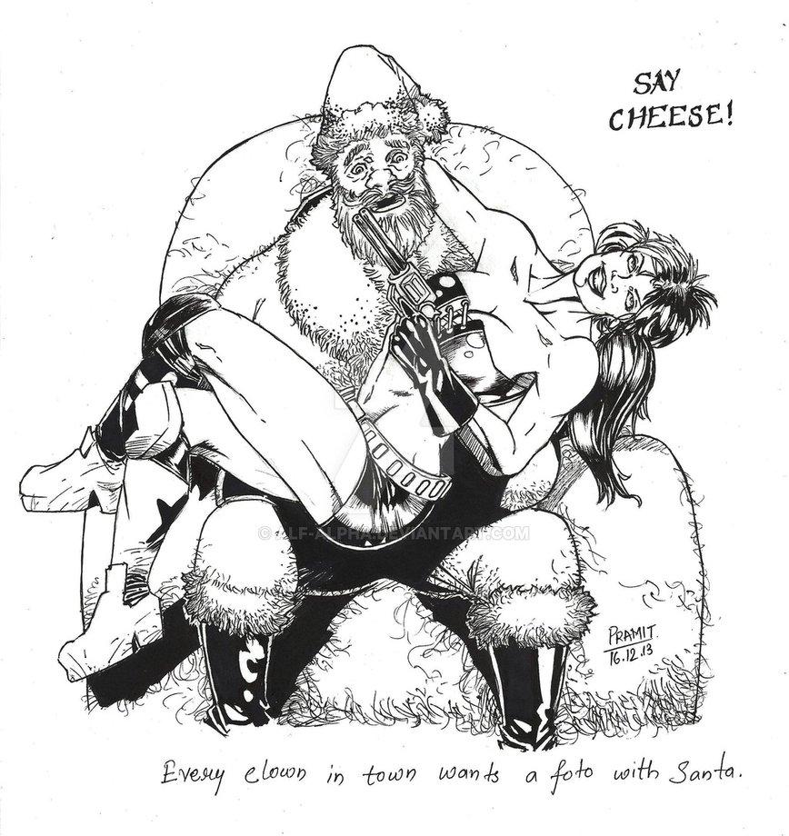 Santa and Harley by Pramit